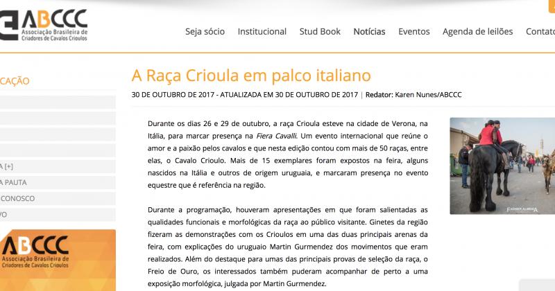 ANACC nelle News di ABCCC – Brasile